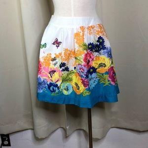 Anthropologie edme&esyllte floral butterfly skirt